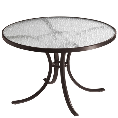 Tropitone 1842 Acrylic And Glass Tables 42 Inch Round Dining Table Discount Furniture At Hickory Park Furniture Galleries
