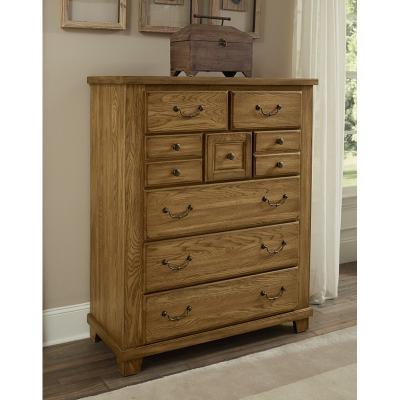 Vaughan Bassett 425 1181 American Oak Honey 8 Drawer