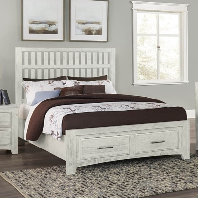 Vaughan Bassett Slate Queen Bed with avaliable storage