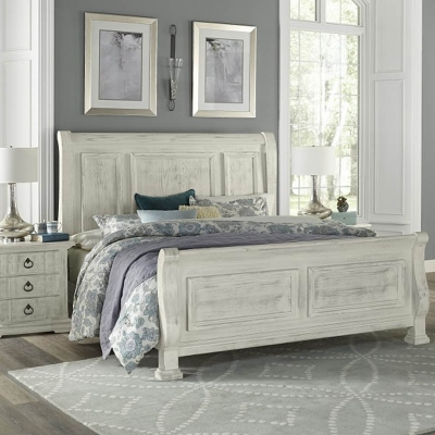 Vaughan Bassett Sleigh King Bed avaliable with storage