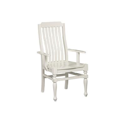 Laurel Mercantile Arm Chair Wooden Seat