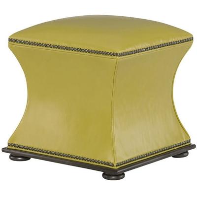 Wesley Hall Leather Ottoman
