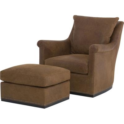 Wesley Hall Houston Leather Swivel Chair