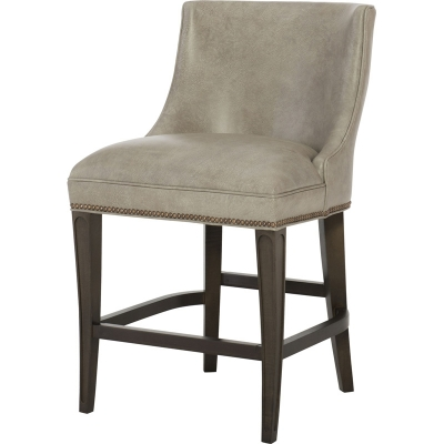 Wesley Hall Leather Counter Stool