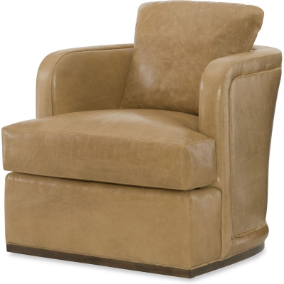 Wesley Hall Leather Swivel Chair