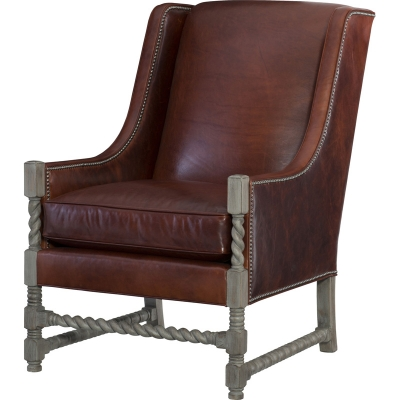 Wesley Hall Davis Leather Chair