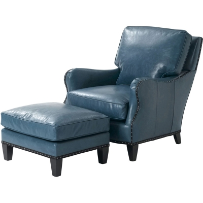 Wesley Hall Berger Leather Chair