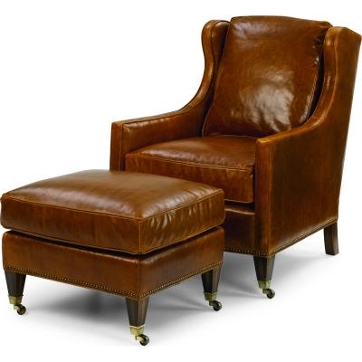 Wesley Hall Sawyer Leather Chair