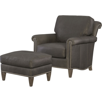 Wesley Hall Barringer Leather Chair