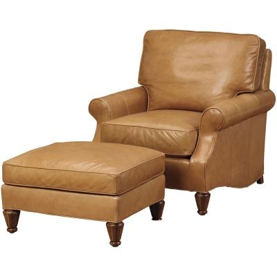 Wesley Hall Fenway Leather Chair