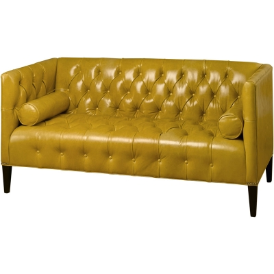 Wesley Hall Leather Settee