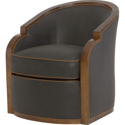 Wesley Hall Gracious Leather Swivel Chair