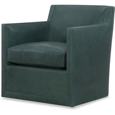 Wesley Hall Swivel Leather Chair