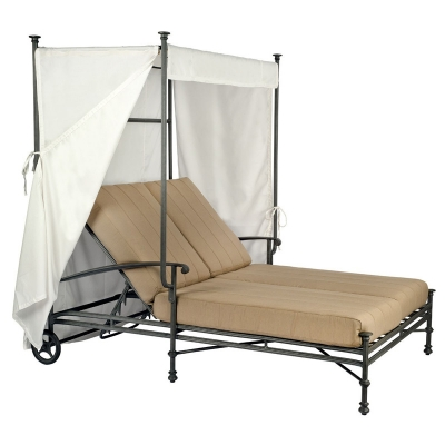 Woodard Double Chaise with Canopy