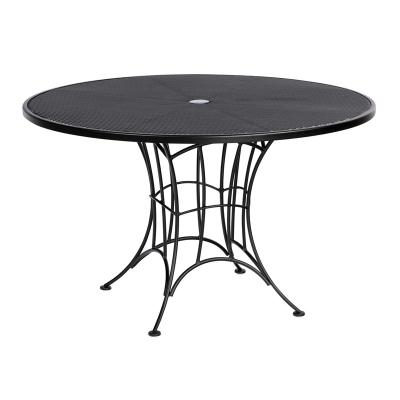 Woodard Round Umbrella Dining Table