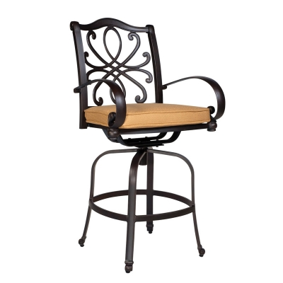 Woodard Swivel Counter Stool