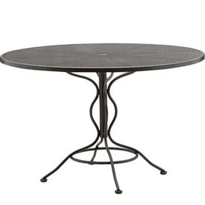 Woodard Mesh Top Set-Up 48 inch Round Umbrella Table