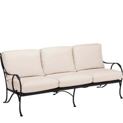 Woodard 260020 Modesto Sofa With Cushions Discount Furniture At Hickory Park Furniture Galleries