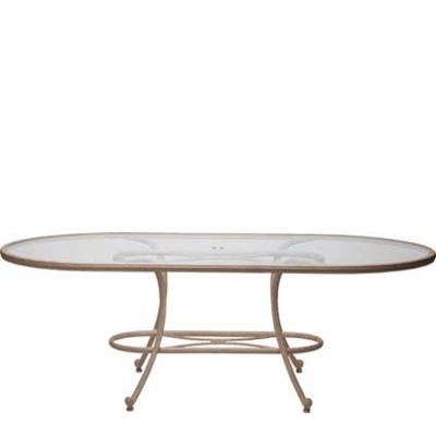Woodard 42 inch x 84 inch Oval Umbrella Table Top