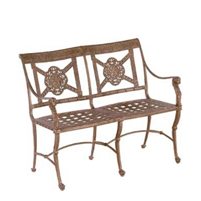 Woodard Luxor Bench Discount Furniture at Hickory
