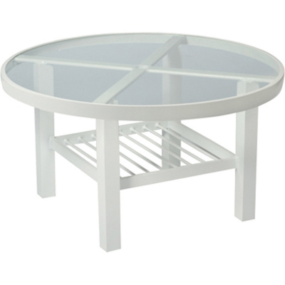 Woodard Tables Accessories And Bases Elite 36 Inch Round Coffee Table Clear Glass