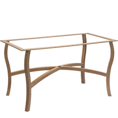 Woodard 5p7200 carson cushion large dining table base for Carson chaise lounge