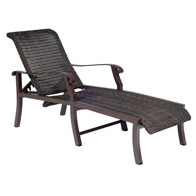 Woodard Round Weave Adjustable Chaise Lounge