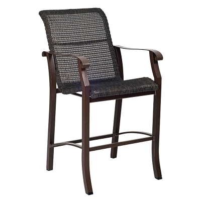 Woodard Round Weave Stationary Bar Stool