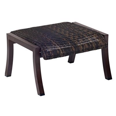 Woodard Round Weave Ottoman