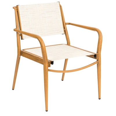 Woodard Sling Dining Arm Chair Stacking