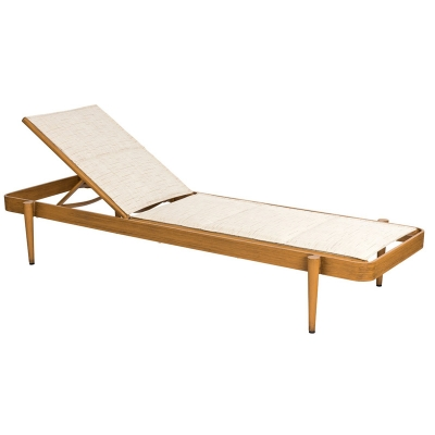 Woodard Padded Sling Chaise Lounge Stacking