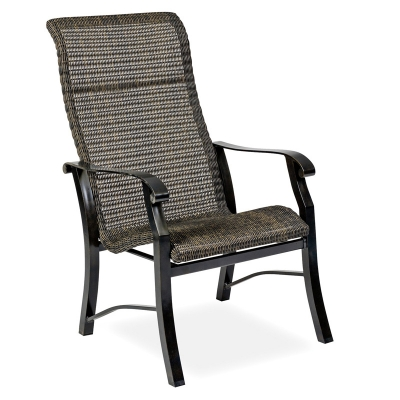 Woodard Round Weave Dining Arm Chair