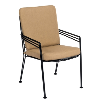 Woodard Dining Arm Chair with Optional seat and back cushion