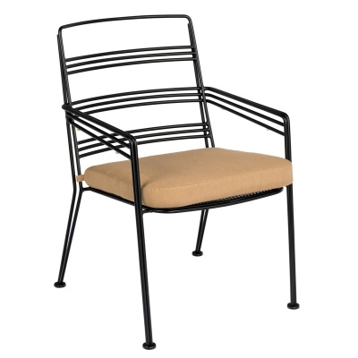 Woodard Dining Arm Chair with Optional seat cushion