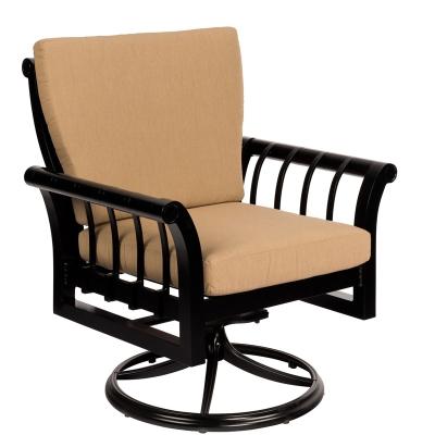 Woodard Swivel Rocking Dining Arm Chair