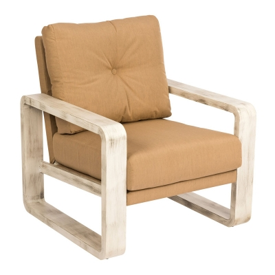 Woodard Lounge Chair with Upholstered Back
