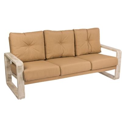 Woodard Sofa with Upholsterted Back