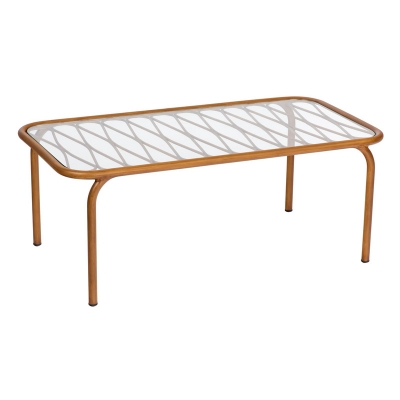 Woodard Coffee Table with Glass Top
