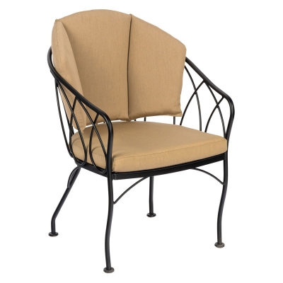 Woodard Dining Chair with Optional Back Cushion