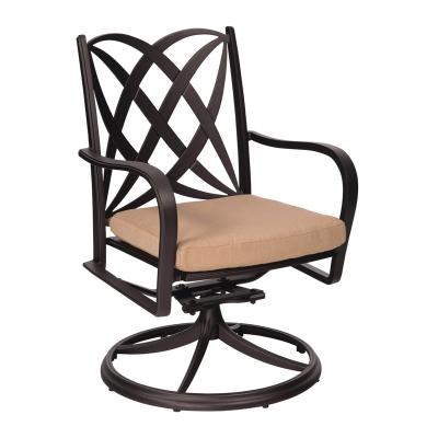 Woodard Swivel Rocker Dining Arm Chair with Optional Cushion