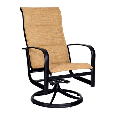 Woodard Padded Sling High Back Swivel Rocker