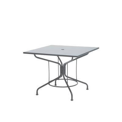 Woodard Mercury 36 inch Square Solid Top Umbrella Table