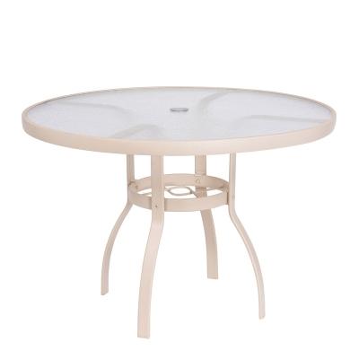 Woodard Sandstone 42 inch Round Umbrella Table Acrylic Top