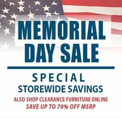 Memorial Day Furniture Sale