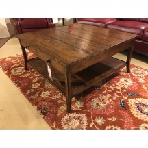 JC Edited Casually Country Square Walnut Coffee Table Jonathan Charles