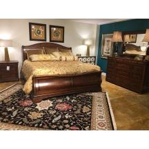 Raylen Vineyards Sleigh King Bed Fine Furniture Design