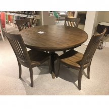 The Nook Oak 54 inch Round Dining Table Kincaid