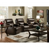 Leather Motion Theatre Seating Hickory Park Furniture