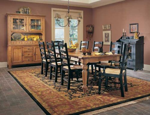 ATTIC HEIRLOOMS Collection Furniture At Hickory Park Furniture - Broyhill farmhouse dining room table