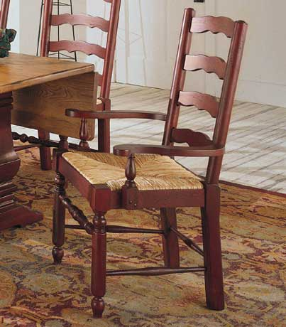 Attic Heirlooms Ladderback Arm Chair